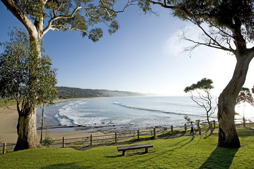 A beautiful view of the beach at Lorne